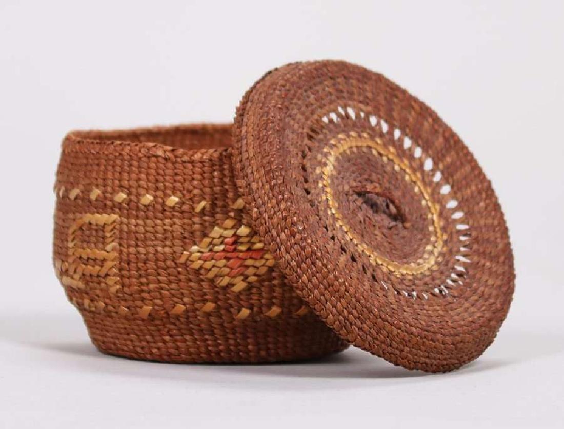"Native American ""Alaska"" Basket c1900-1920 - 5"