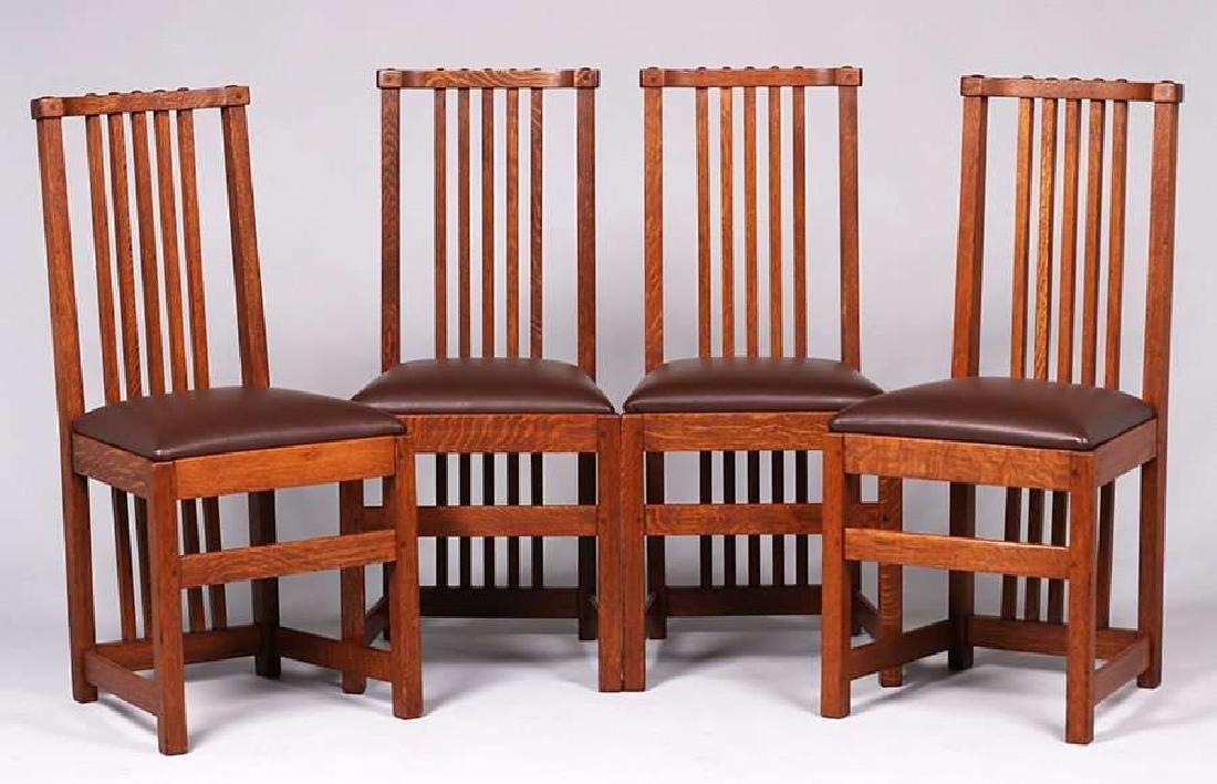 Set of 4 Limbert Spindled Chairs Yellowstone Lodge