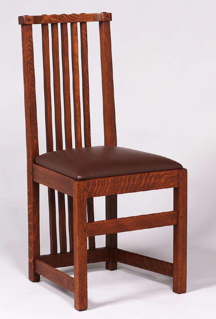 Set of 4 Limbert Spindled Chairs Yellowstone Lodge - 3