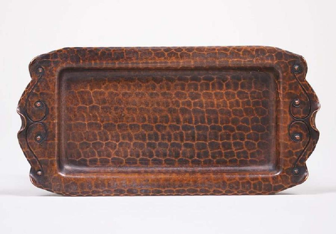 Old Mission Kopper Kraft Tray c1922-1925
