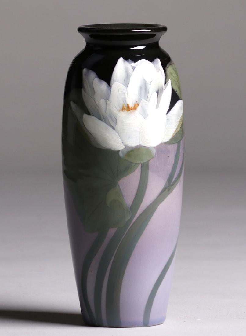 Rookwood Black Iris Vase Sara Sax 1902