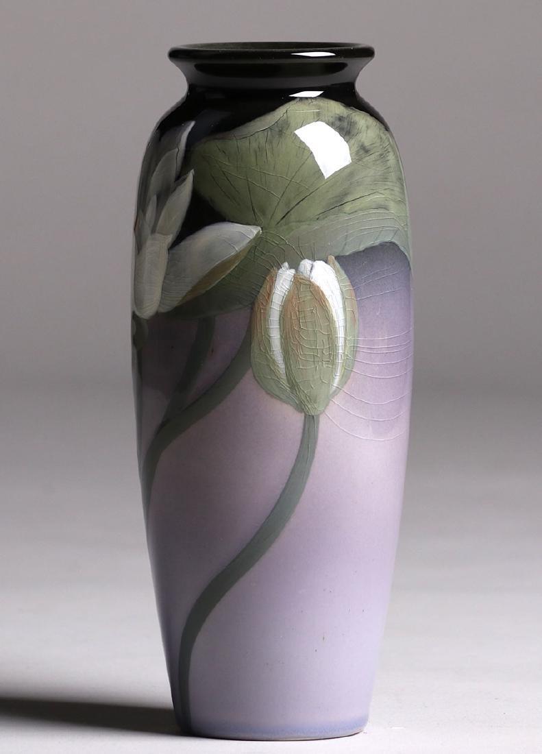 Rookwood Black Iris Vase Sara Sax 1902 - 2
