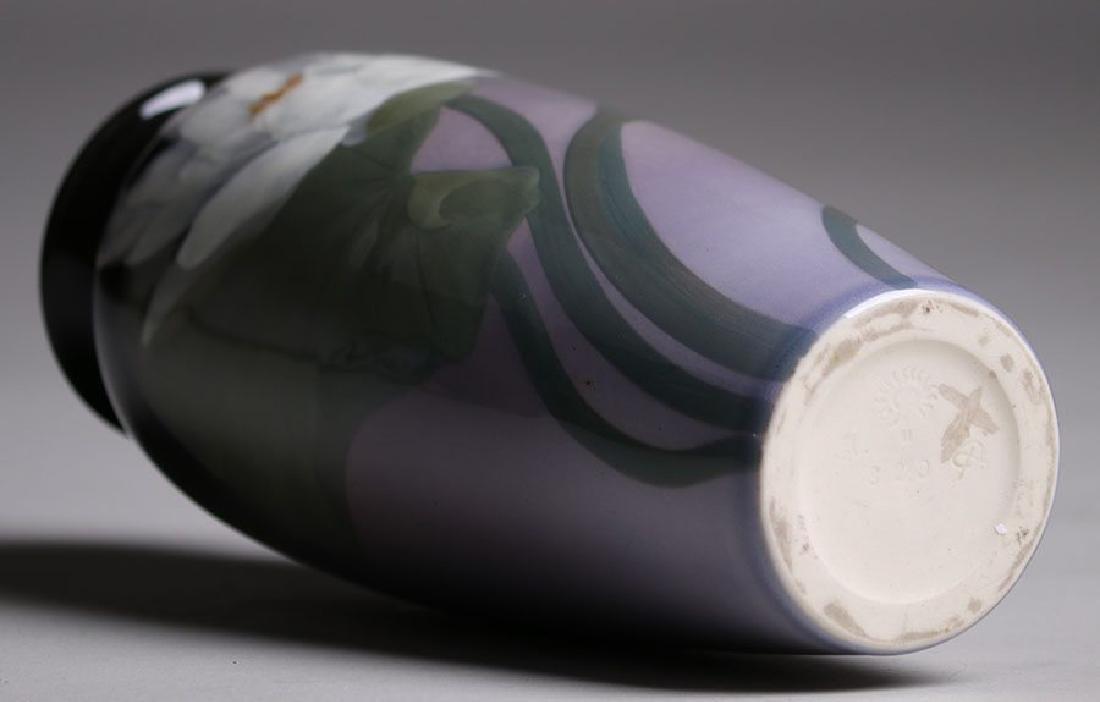 Rookwood Black Iris Vase Sara Sax 1902 - 3