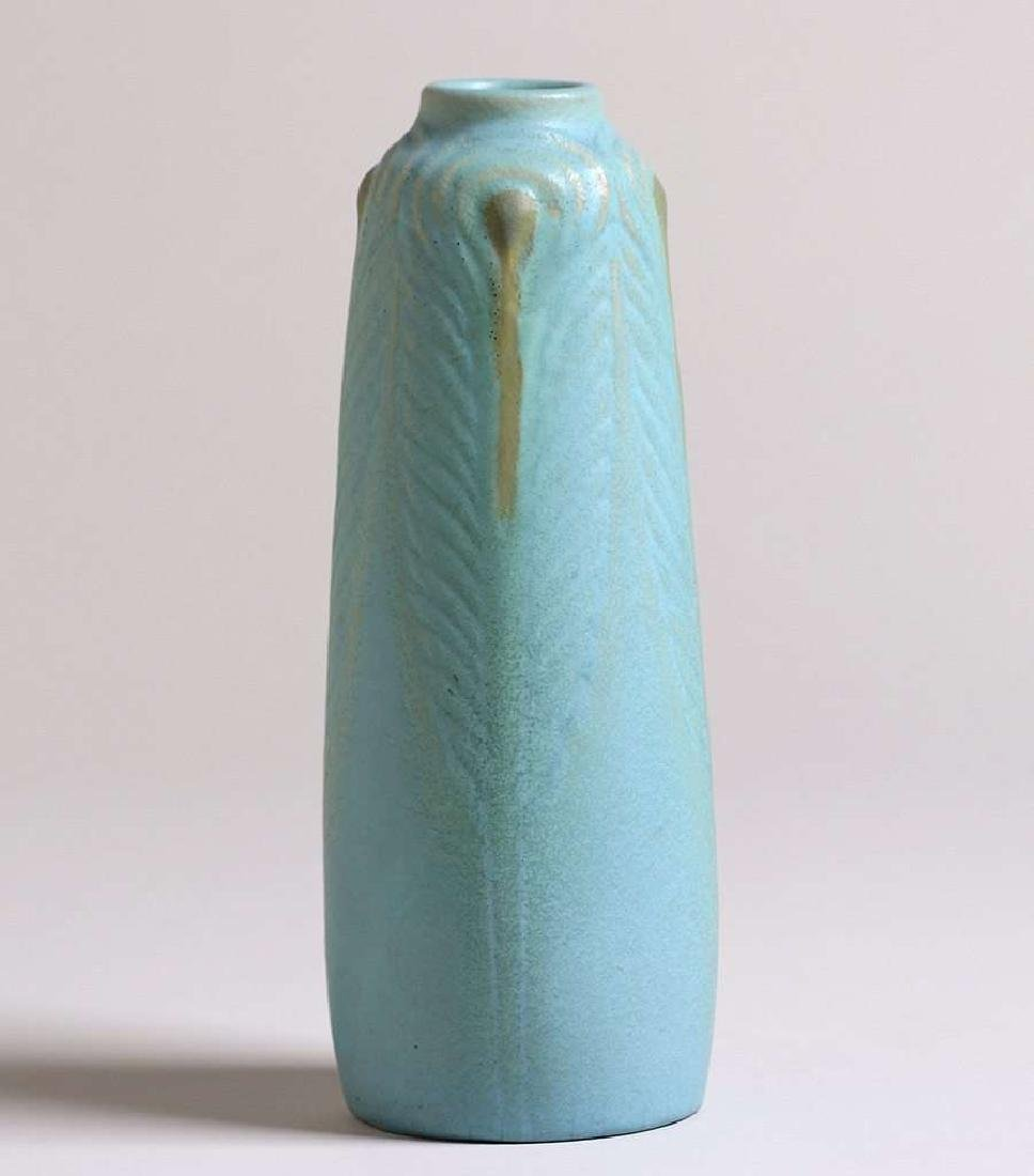 Early Van Briggle 1904 Peacock Feather Vase - 2