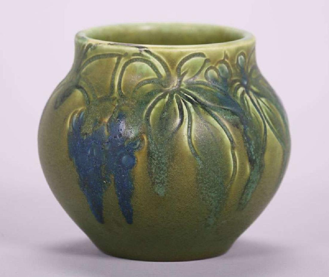 Rookwood 1904 Carved Matte Green Grapevine Vase