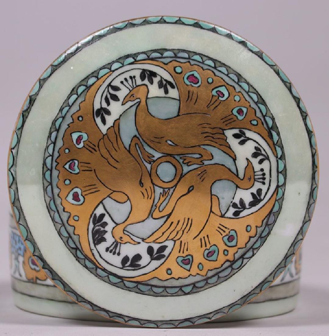 C.S. Babcock Hand-Painted Porcelain Bon-Bon Powder Box