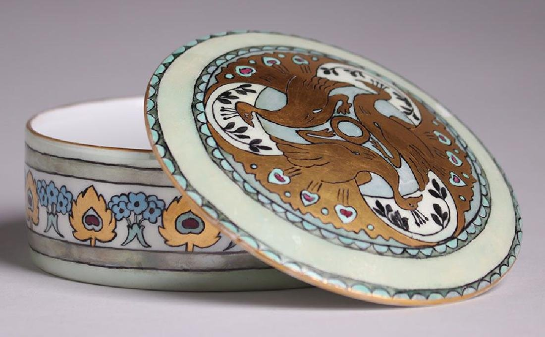 C.S. Babcock Hand-Painted Porcelain Bon-Bon Powder Box - 2