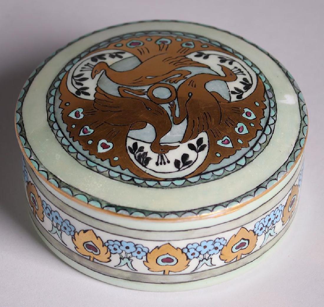 C.S. Babcock Hand-Painted Porcelain Bon-Bon Powder Box - 5