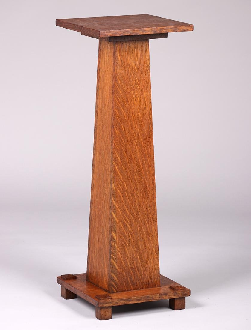Stickley Brothers Square Pedestal c1910