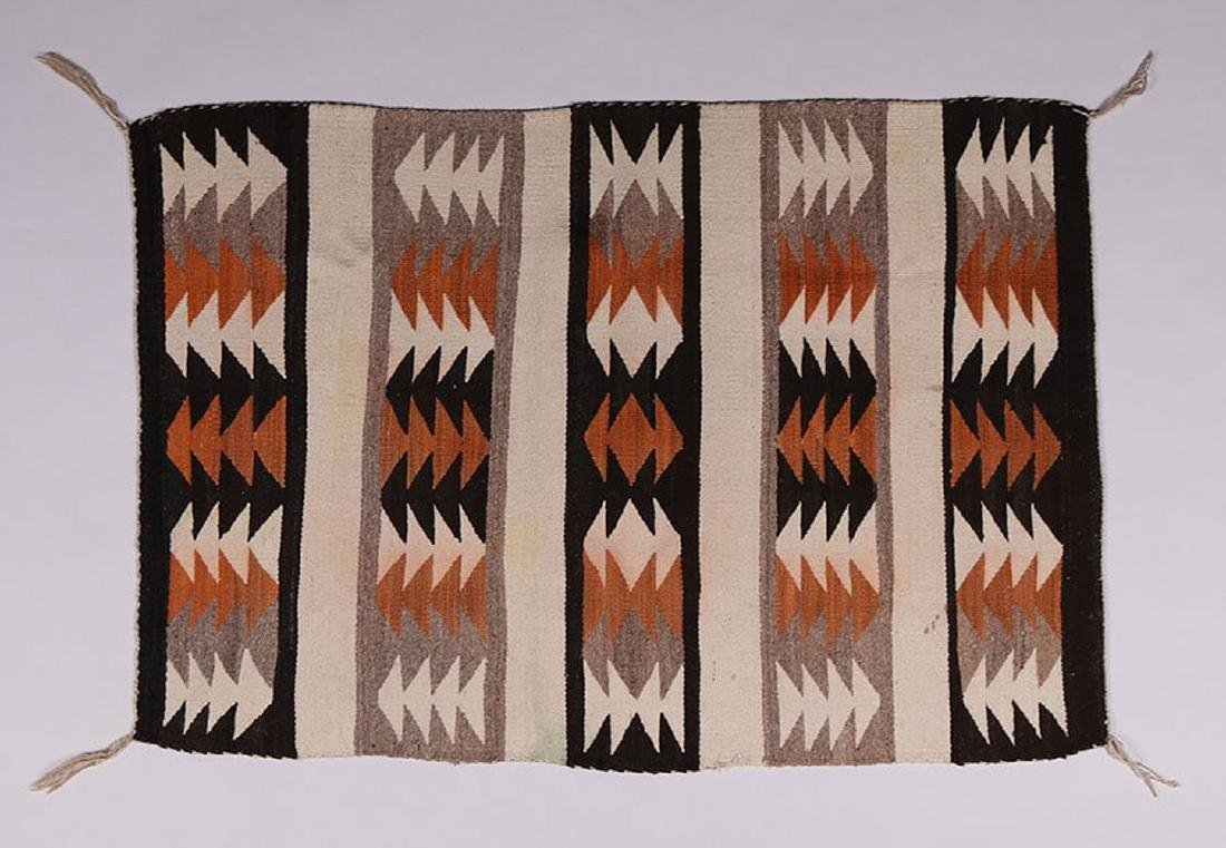 Navajo Striped Eye-Dazzler Rug c1940s