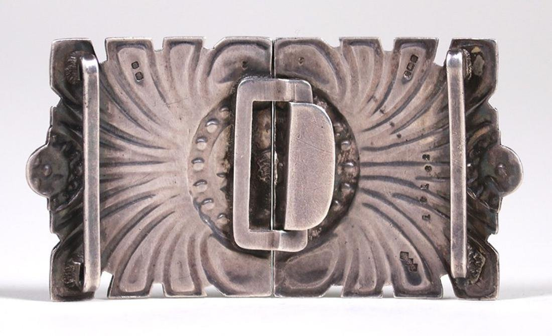 Liberty & Co Sterling Silver & Enamel Belt Buckle - 2