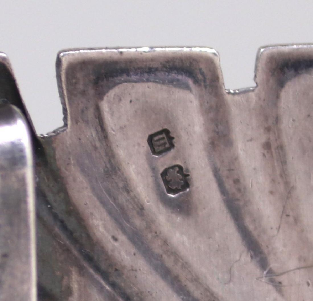 Liberty & Co Sterling Silver & Enamel Belt Buckle - 4