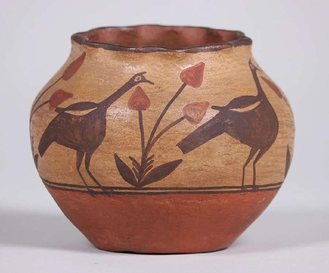 Zuni Pueblo Turkey Vase c1920