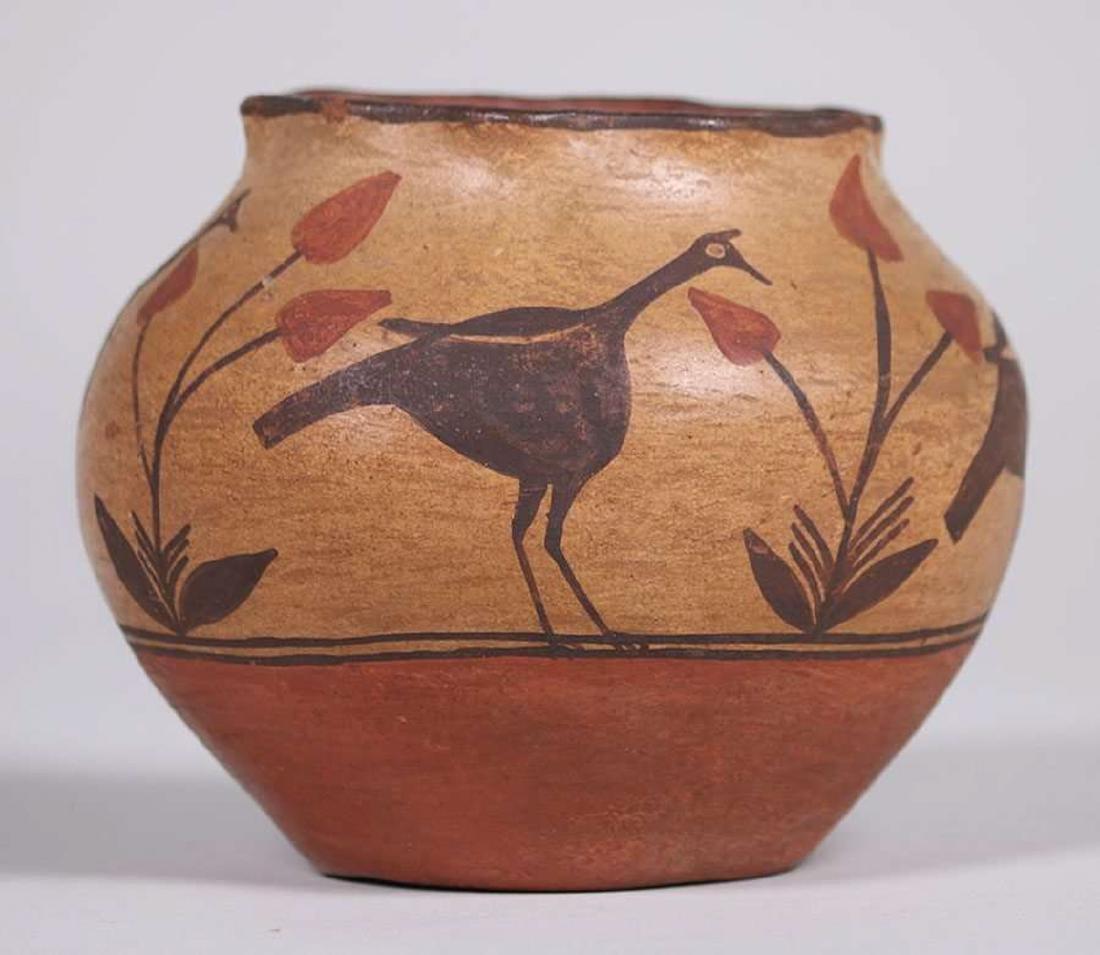 Zuni Pueblo Turkey Vase c1920 - 3