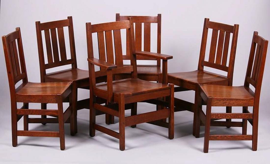 Set of 6 L&JG Stickley Dining Chairs