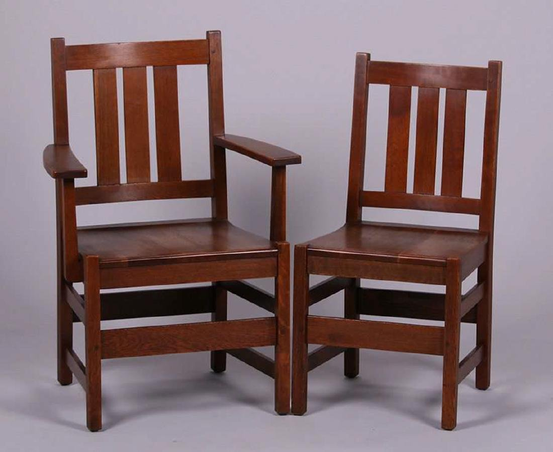 Set of 6 L&JG Stickley Dining Chairs - 2