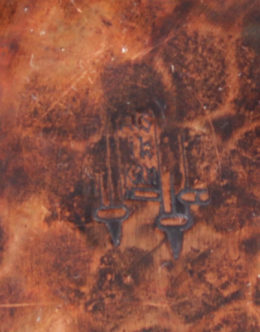 Gustav Stickley Hammered Copper Chamber Stick - 3