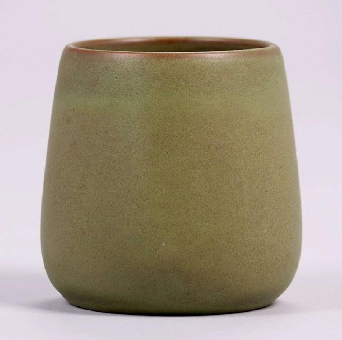 California Faience Tapered Matte Green Vase