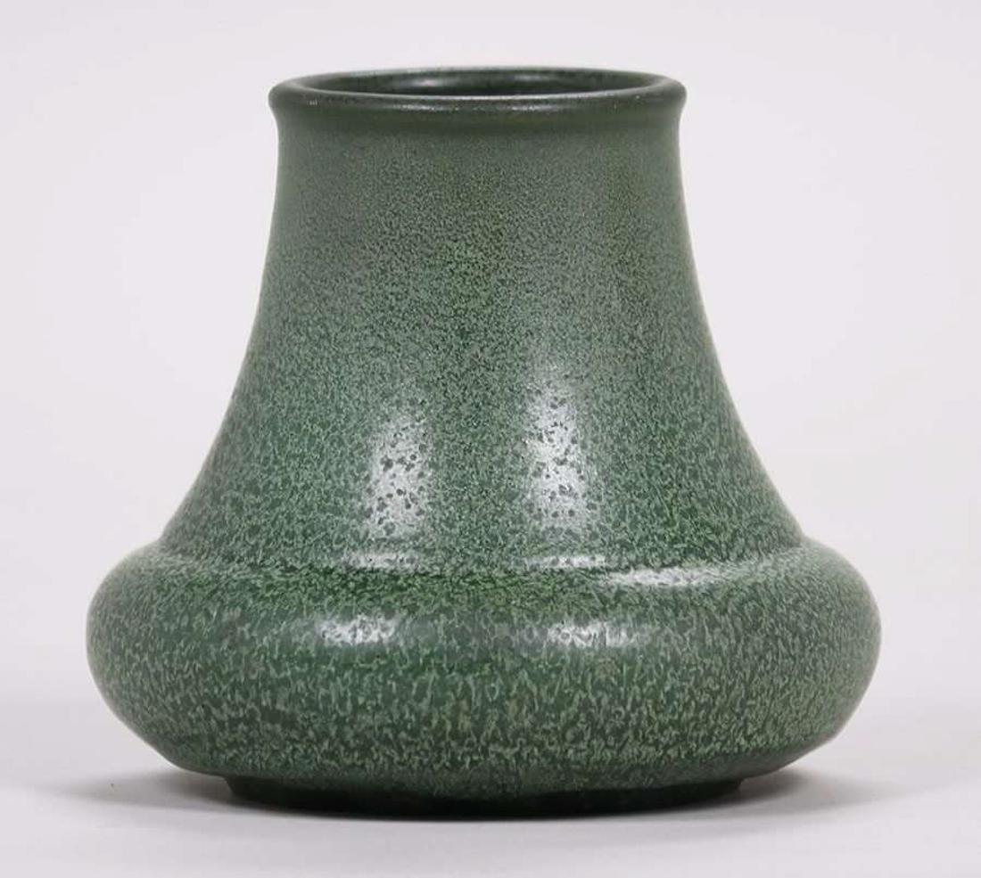 Hampshire Pottery Matte Green Vase