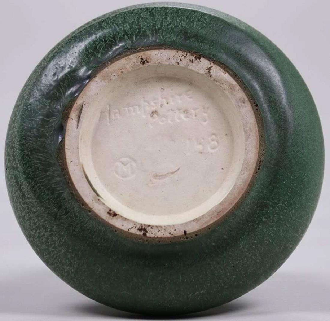 Hampshire Pottery Matte Green Vase - 3
