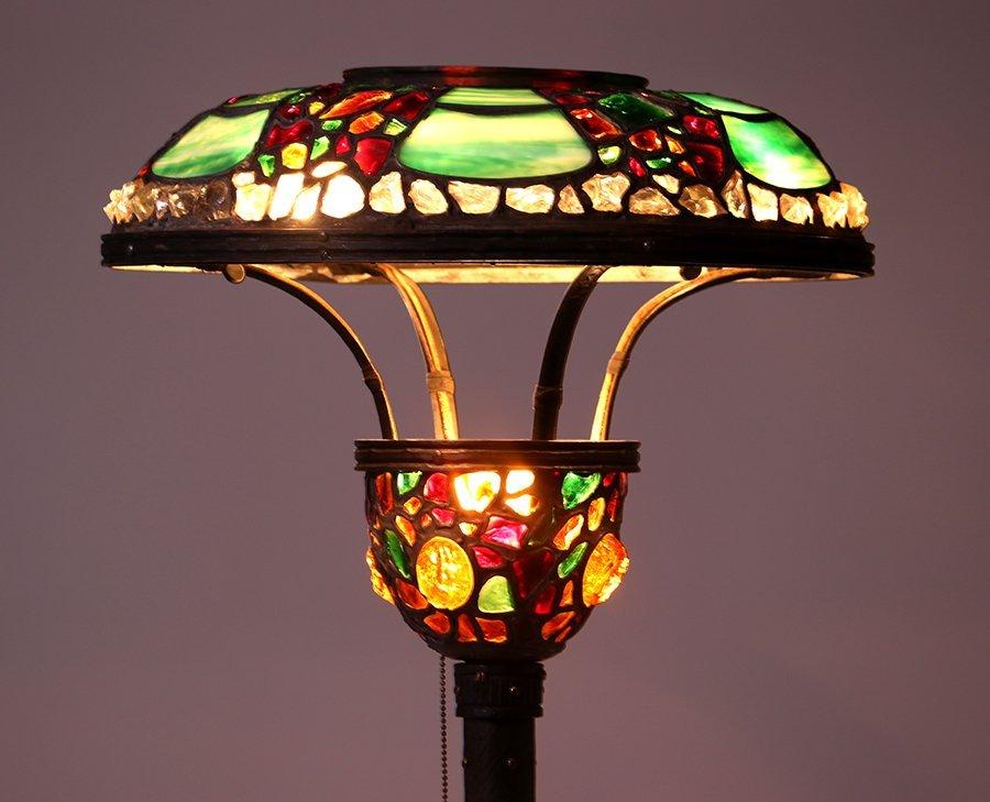 Austrian Leaded Glass Floor Lamp c1910
