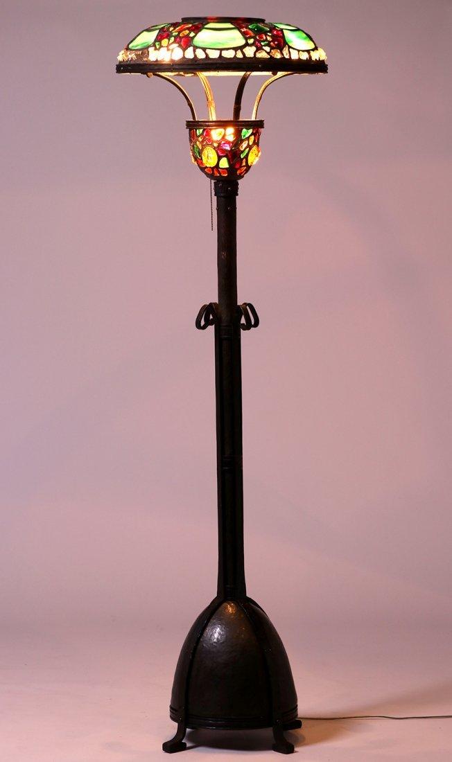 Austrian Leaded Glass Floor Lamp c1910 - 2