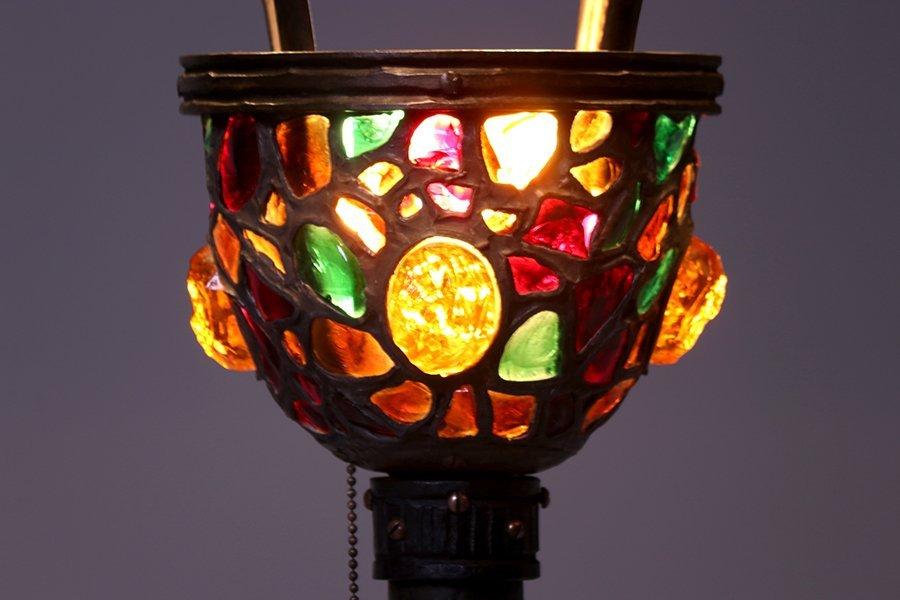 Austrian Leaded Glass Floor Lamp c1910 - 3
