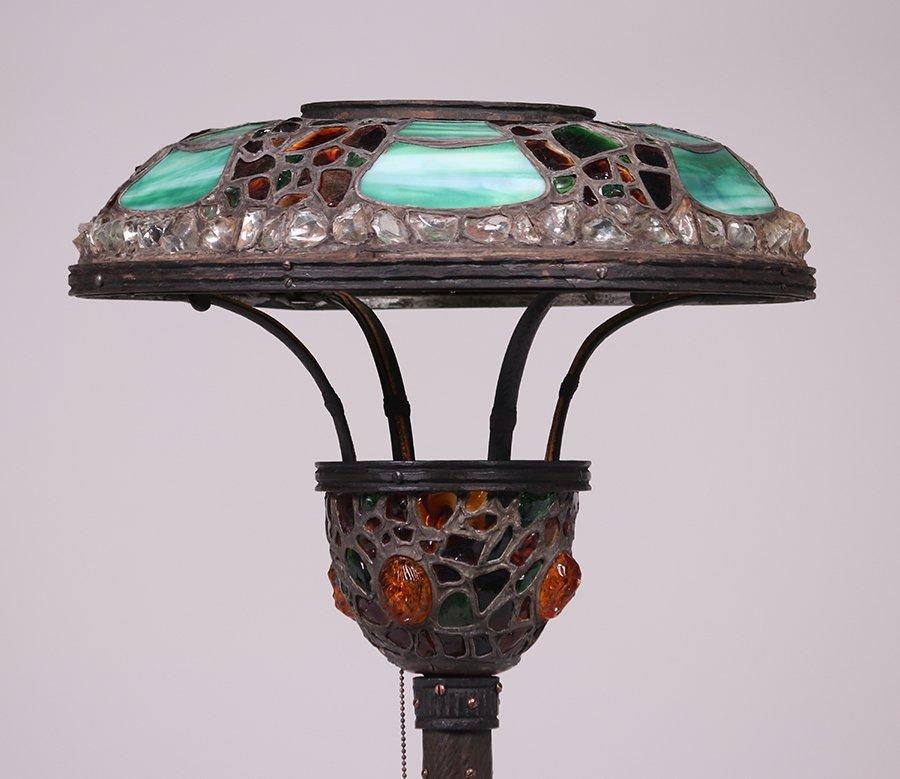 Austrian Leaded Glass Floor Lamp c1910 - 5