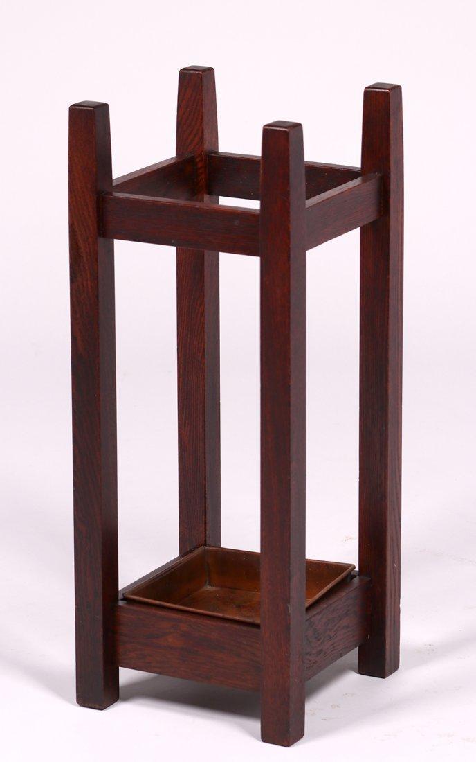 Michigan Chair Co Oak Umbrella Stand c1910