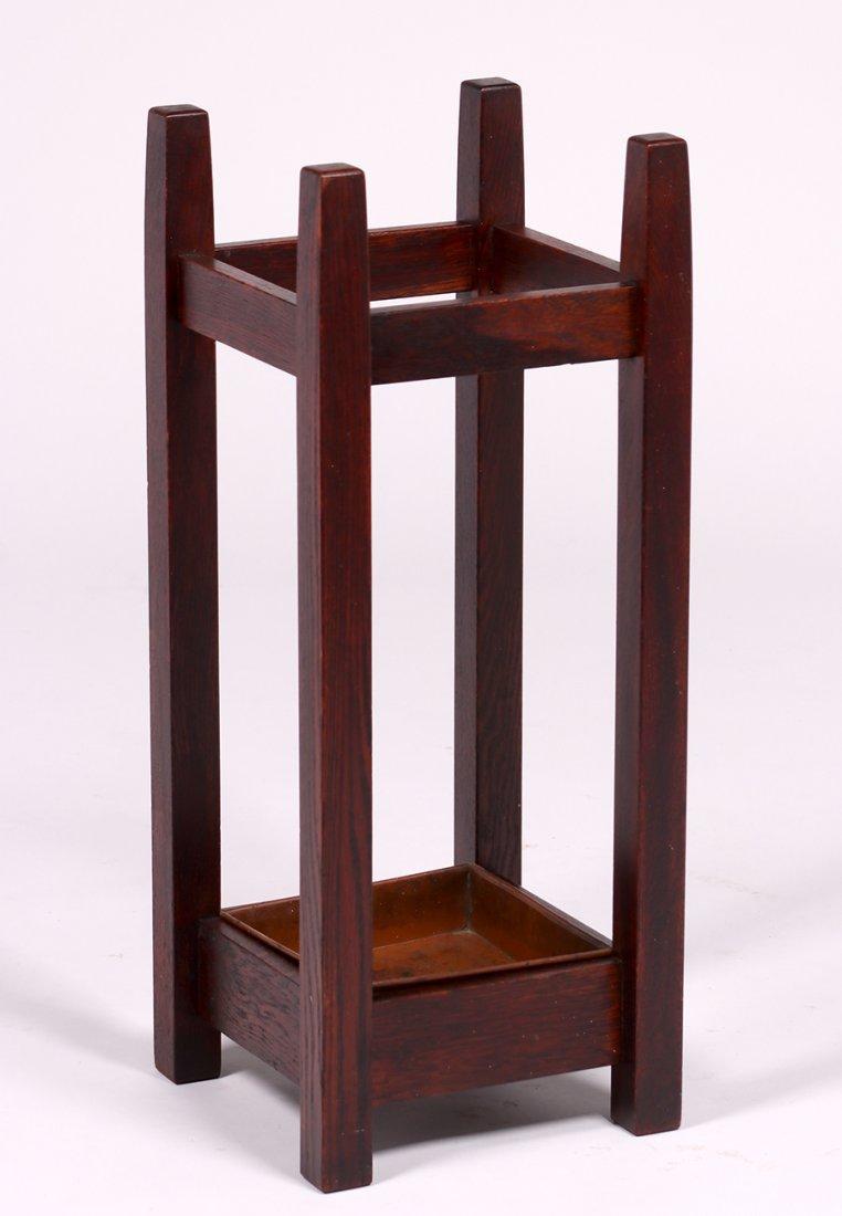 Michigan Chair Co Oak Umbrella Stand c1910 - 2