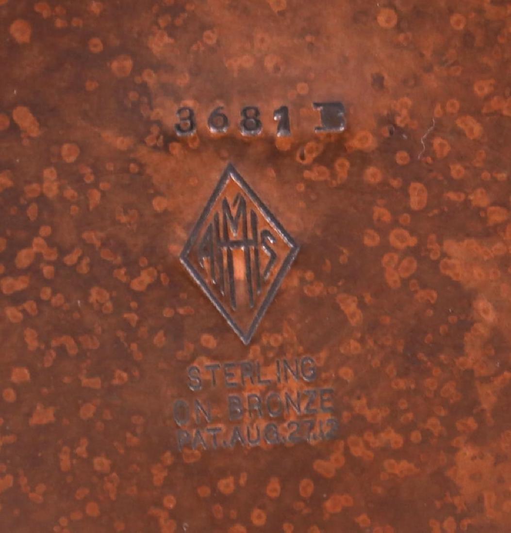 "Tall Heintz Sterling on Bronze 12"" Vase - 3"