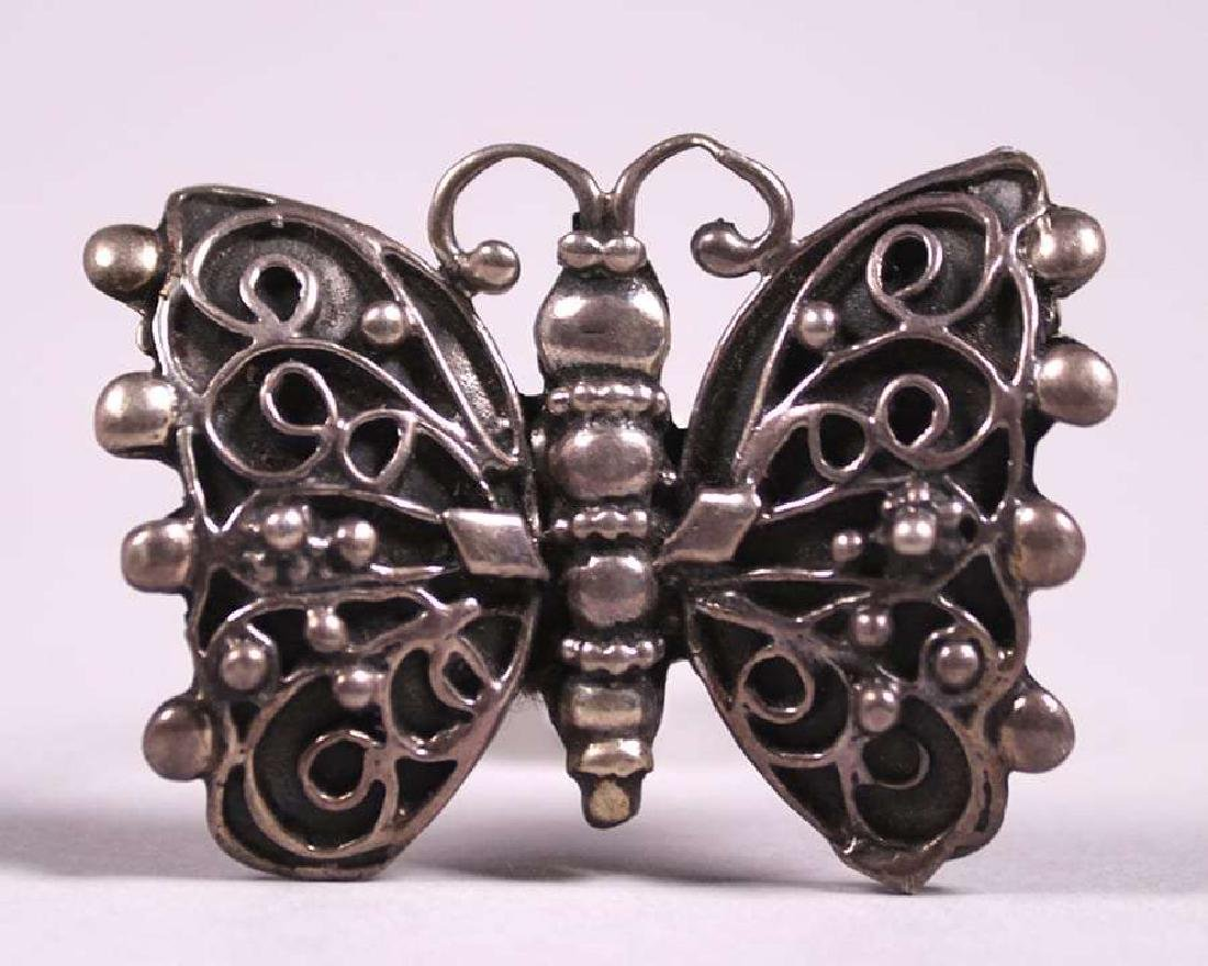 Lillian Pines Sterling Silver Butterfly Brooch