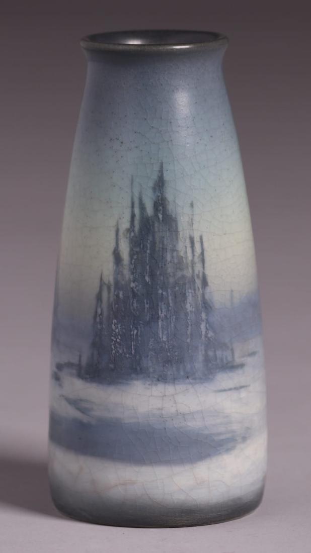 Rookwood Scenic Vellum Vase Sallie Coyne 1914