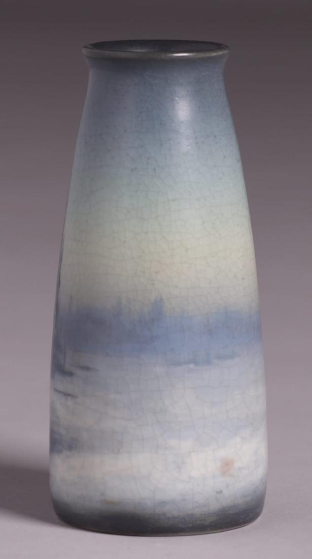 Rookwood Scenic Vellum Vase Sallie Coyne 1914 - 4