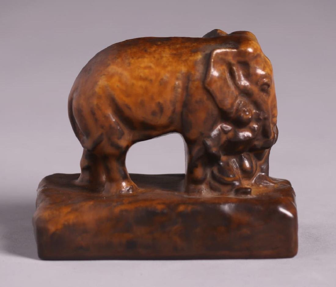 Rookwood Pottery Elephant Paperweight 1922