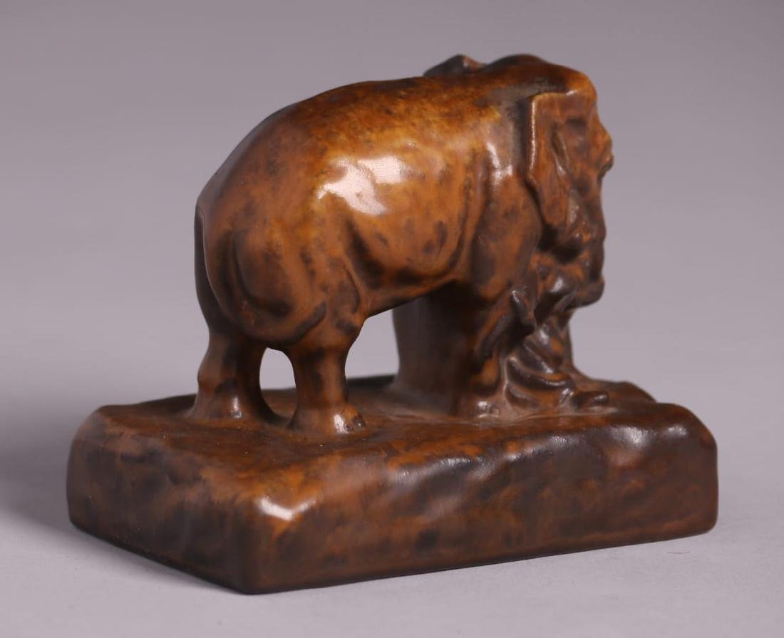 Rookwood Pottery Elephant Paperweight 1922 - 2