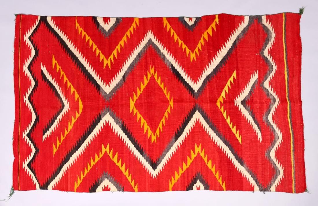 Navajo Transitional Period Serape Blanket c1890s