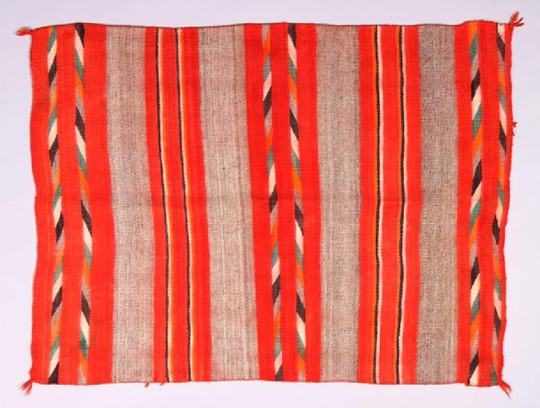 Early Navajo Transitional Child's Blanket c1880s-90s