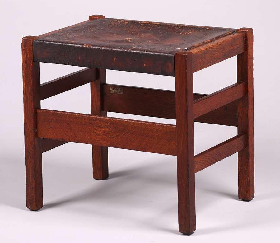 L&JG Stickley Footstool c1907-1912