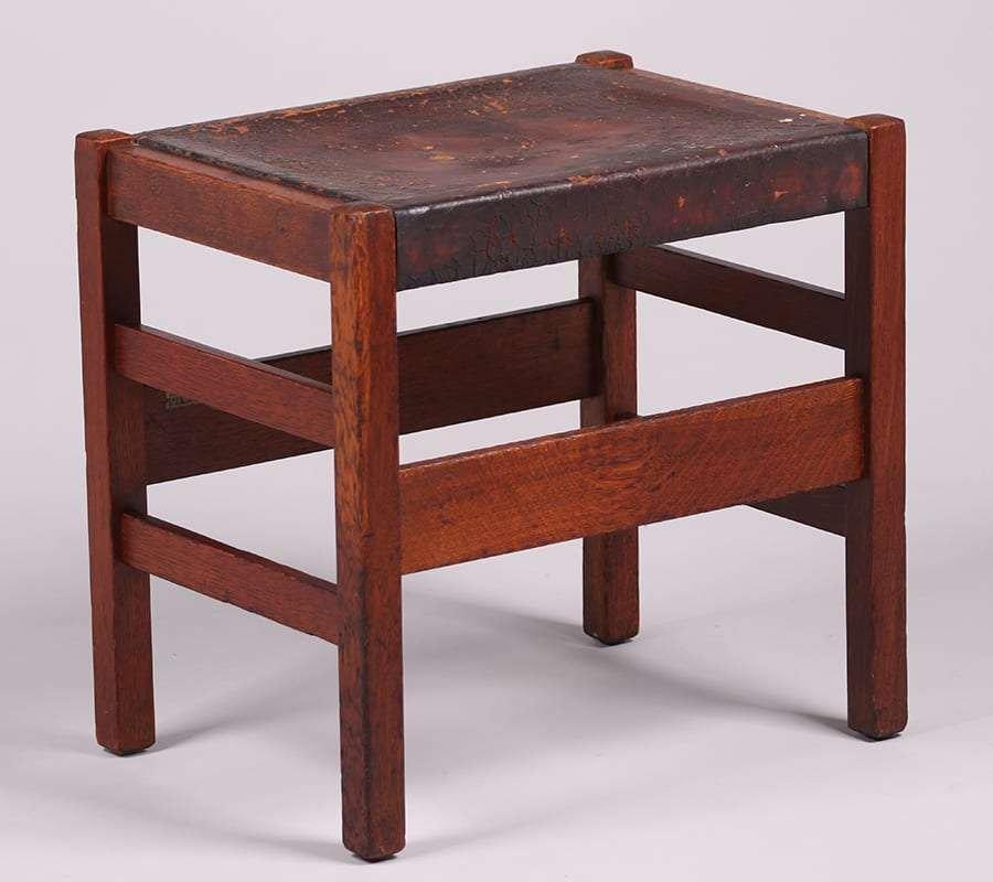 L&JG Stickley Footstool c1907-1912 - 2