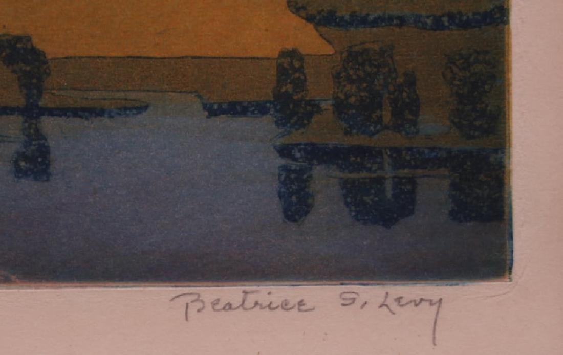 Beatrice S. Levy Woodblock Print c1910 - 3