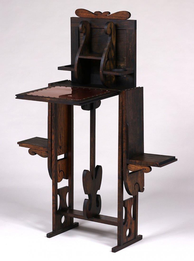 Jamestown Furniture Co Fold-Out Cellarette c1910 - 3