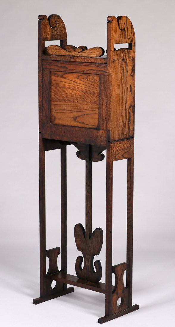 Jamestown Furniture Co Fold-Out Cellarette c1910 - 5