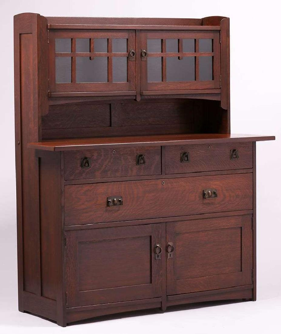 Rare Stickley Brothers #8609 Hutch Sideboard c1910
