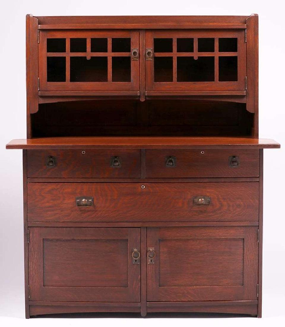 Rare Stickley Brothers #8609 Hutch Sideboard c1910 - 2