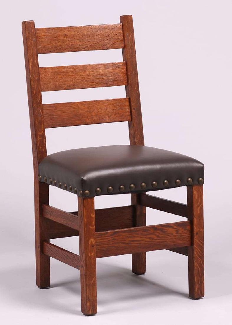 Pair Gustav Stickley #349 1/2 Side Chairs c1910 - 2