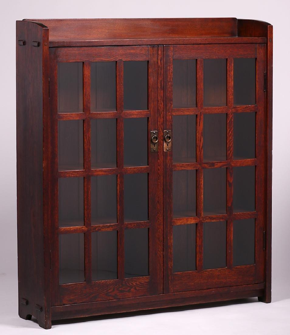Early Gustav Stickley Mitered-Mullion Bookcase - 2