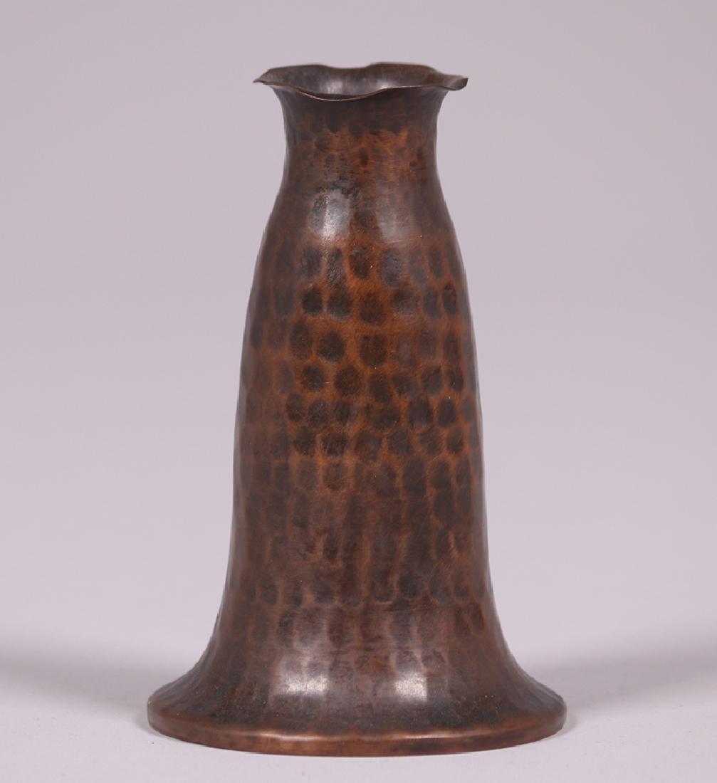 Arts & Crafts Hammered Copper Small Vase c1925
