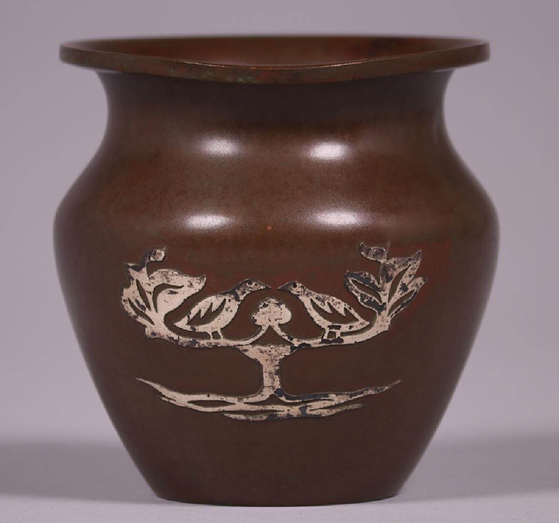 Silvercrest Sterling on Bronze Overlay Vase