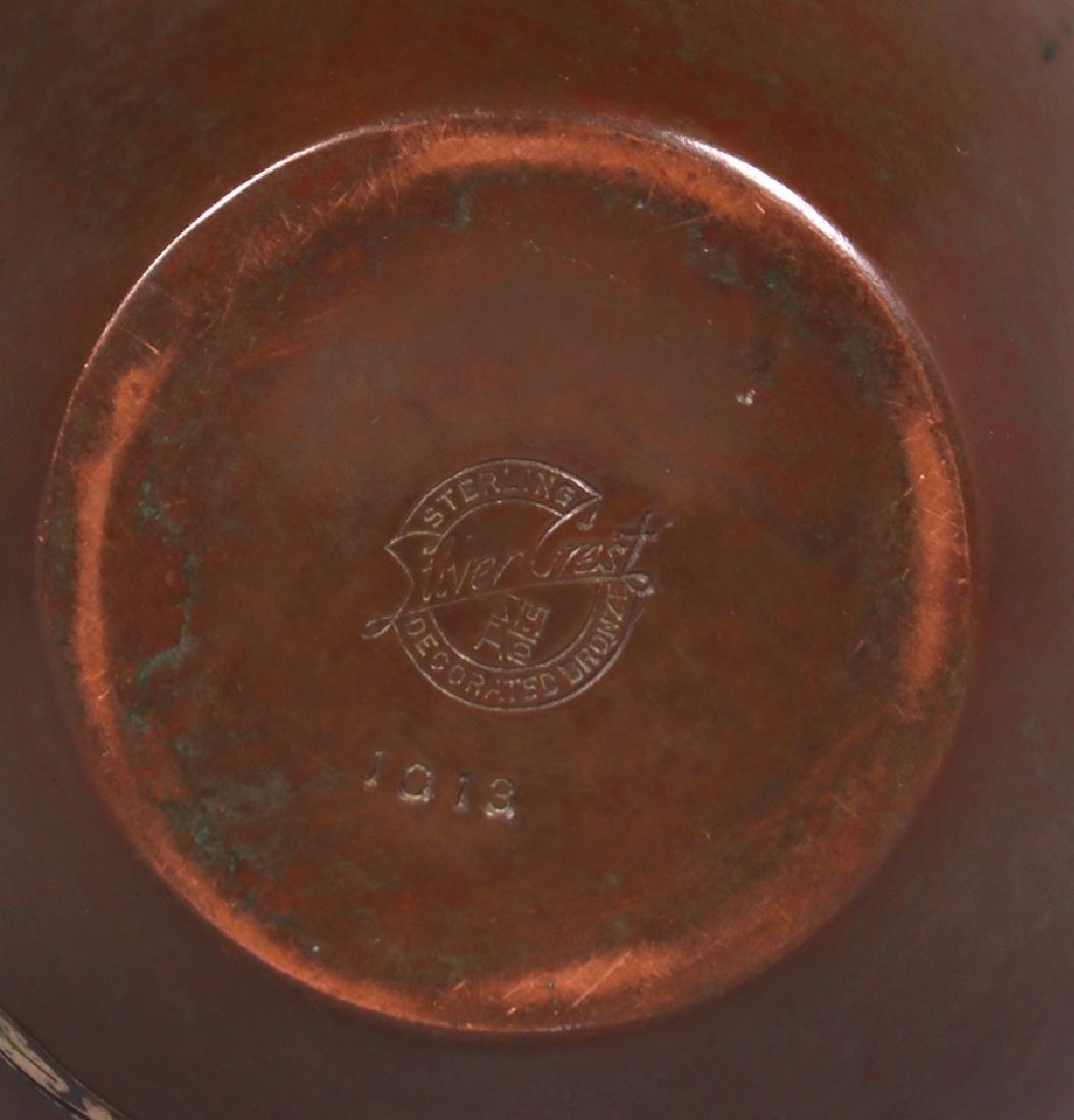 Silvercrest Sterling on Bronze Overlay Vase - 3